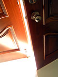 Door to success. Very bright behind the door. Can be use for the door to success, door to win, door to better life