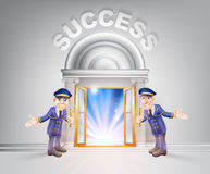 Door to Success and Doormen Royalty Free Stock Photo