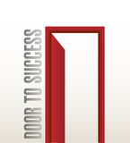 Door to success illustration design Royalty Free Stock Photo