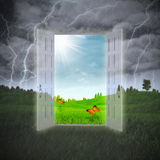 Door to the Summer stock illustration