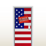 Door to the us closed. illustration design Stock Photos