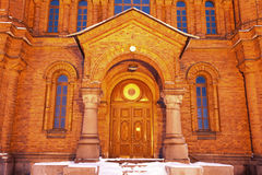 Door to Uspenski Cathedral in Helsinki Royalty Free Stock Photo