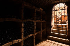 Door to wine cellar Royalty Free Stock Images