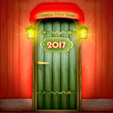 Door to 2017 Royalty Free Stock Photos
