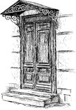 Door of town house Stock Images