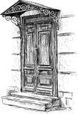 Door of town house Stock Images