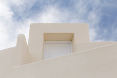 Door of traditional house in Oia Stock Images