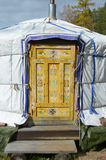 The door with traditional mogolian pattern Royalty Free Stock Photography