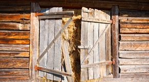 Door of a traditional Romanian barn Royalty Free Stock Photo