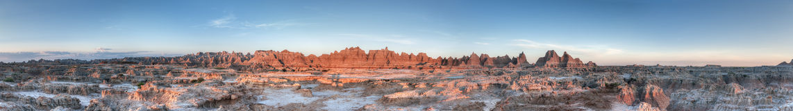 Door Trail Panorama in Badlands National Park Stock Photography