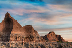 Door Trail Skies - Badlands National Park Royalty Free Stock Images