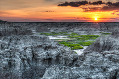 Door Trail Sunrise in Badlands National Park Royalty Free Stock Image