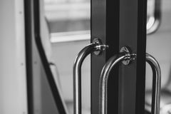 Door in the train Royalty Free Stock Photography
