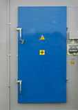 Door of the transformer substation Royalty Free Stock Photo