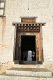 Door of Trashigang Dzong Royalty Free Stock Images
