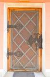 Door of Treasure building in Dmitrov, Russia Stock Images
