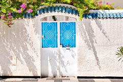Door in Tunisia Royalty Free Stock Photography