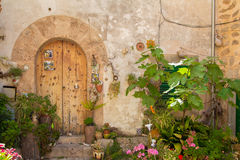 Door in tuscany Stock Images