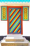 Door of typical Ukrainian house Stock Photography