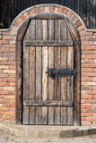 Door in ukrainian house, in Pirogovo, Kiev Royalty Free Stock Photos