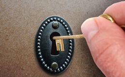 Door unlock Stock Image
