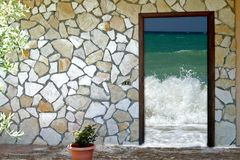 Door in vacations Stock Image