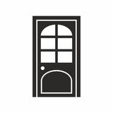 Door. Vector icon isolated on white background stock illustration