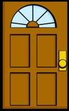 Door vector illustration. Vector illustration of a door Stock Image