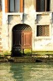 Door on Venice Canal Royalty Free Stock Photos