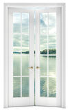 Door with a view of the lake Royalty Free Stock Image