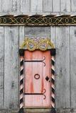 Door of the viking church in Moesgaard Royalty Free Stock Images