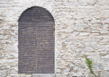 Door in the Visby, Gotland Town-Wall Stock Photo