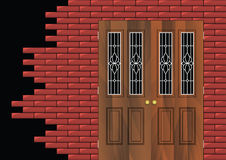 The Door In The Wall Royalty Free Stock Photos