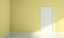 Door and wall corner blank room interior Stock Images