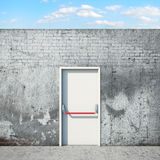 Door and wall in front of sky Royalty Free Stock Photo