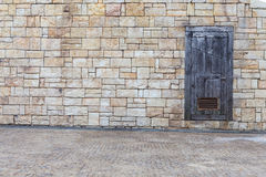 The door with wall Royalty Free Stock Photos