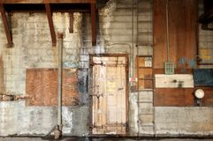 Door in warehouse Royalty Free Stock Photos