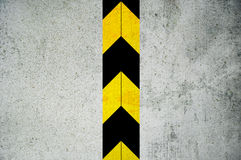 Door with warning. Security metal closed door with warning - black yellow stripes Stock Illustration