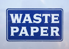 Door of waste paper container Royalty Free Stock Photos