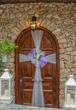 Door with wedding decoration Royalty Free Stock Photos