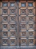 Door, west portal of the church of St. Mark in Zagreb Stock Photo