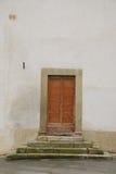 Door in White Wall Stock Photos