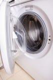 Door of white wash machine Royalty Free Stock Photos