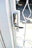 Door. White wrought iron door handles Royalty Free Stock Photos