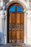 Door of Wilanow Royal Palace in Warsaw, Poland Stock Images