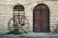 Door and window. Old Jaffa port - door and window stock images