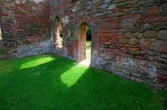 Door and window of ancient building Stock Images