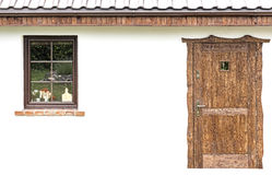 Door and window on the facade of a house Royalty Free Stock Images