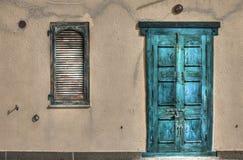 Door and window in hdr Stock Photo