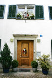 Door and window. Of historical house in Geneva Royalty Free Stock Image